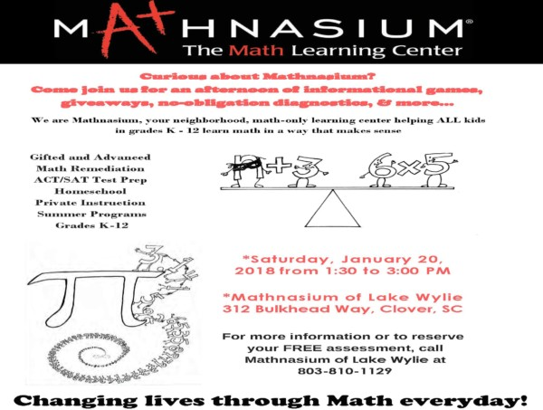 Upcoming Changes To Sat Free Talk For >> Join Us At Our Parent Info Open House On January 20th Mathnasium