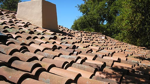 Handmade Mission Tile Roofing Example