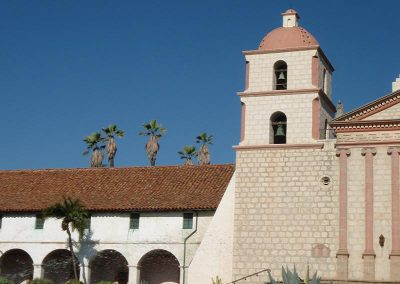 Santa Barbara Mission Tile Roof Photo