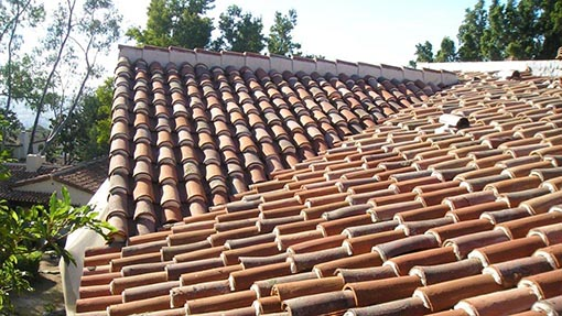 Spanish Clay Tile Roof Example