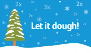 Visa double and triple points graphic let it dough snow