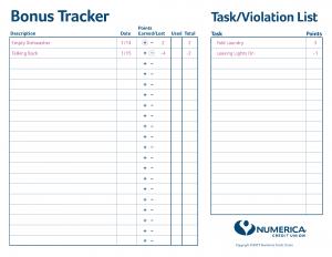 Bonus Tracker Sheet