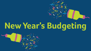 New Year's Budgeting with confetti