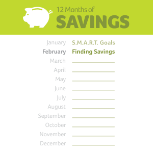 12 months of savings starting in January and ending in February