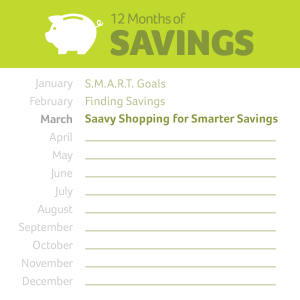 12 months of savings starting in January and ending in March