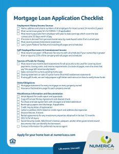 Mortgage Loan Application Checklist