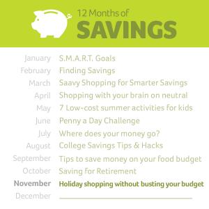 12 months of savings November