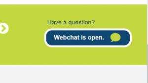 Website Webchat button