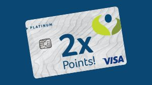 2x Points Visa card from Numerica Credit Union