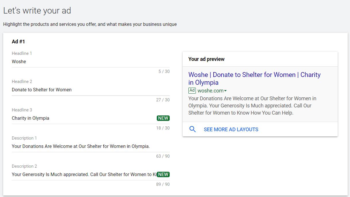 Set Google Ads
