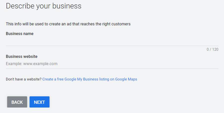 Set Google Ads for Business