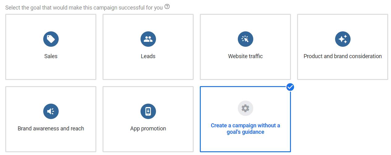 Set Goal in Google Ads