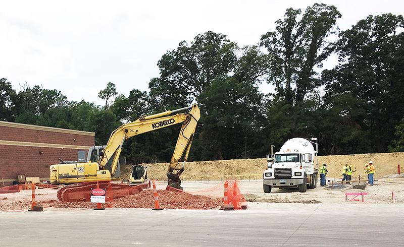 Construction at Q-Lab in Westlake, Ohio, USA
