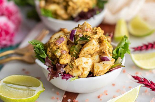 Creamy Egg Curry Salad