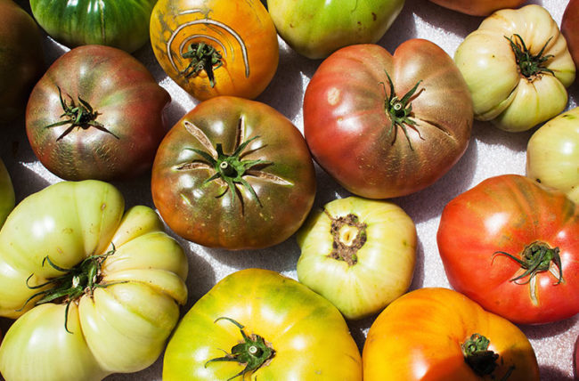 Heirloom Tomato Peach Salad
