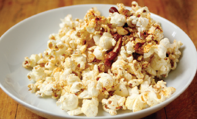 Spicy Almond Popcorn