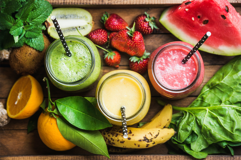 Assorted Fruit Smoothies