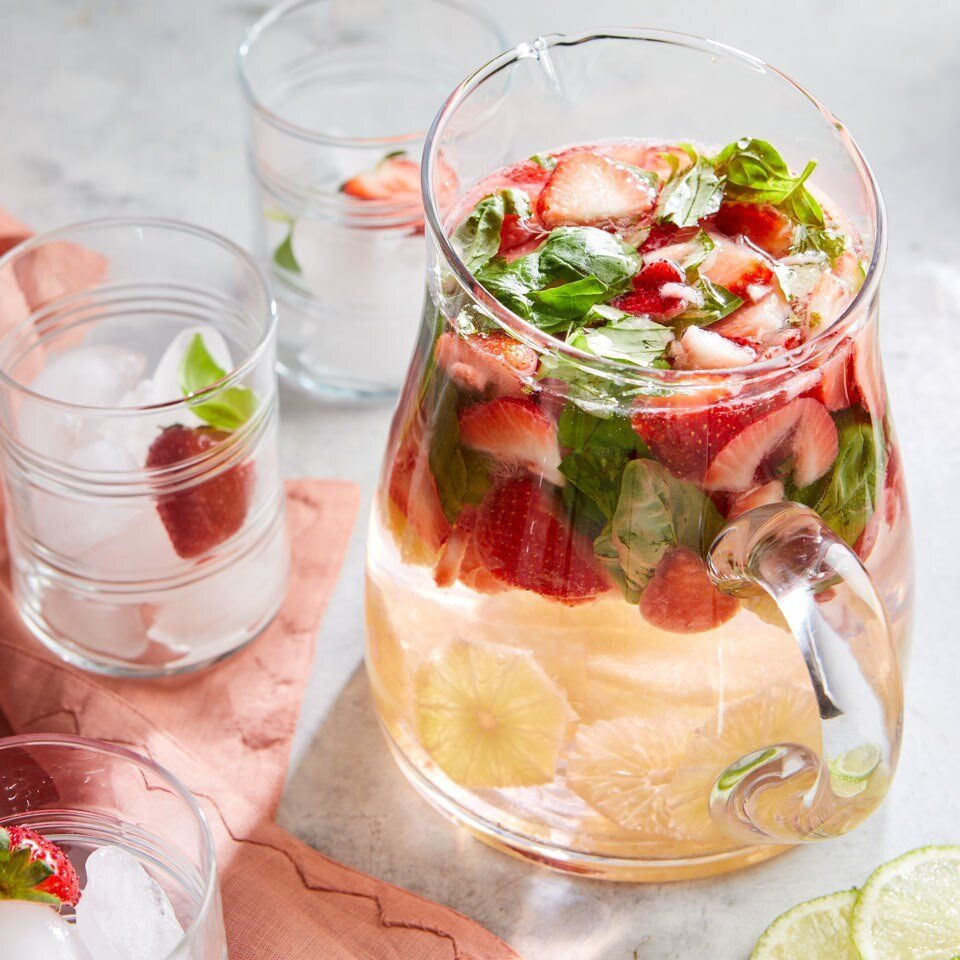 Strawberry Lime Basil Water
