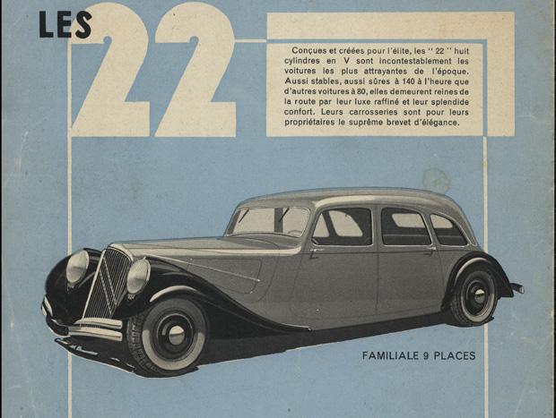 O cartaz de 1934 anunciava a chegada de um modelo com motor V8 que acabou não se tornando realidade