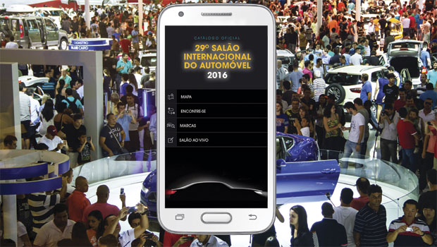 Simulação da capa do aplicativo oficial do catálogo do Salão de SP