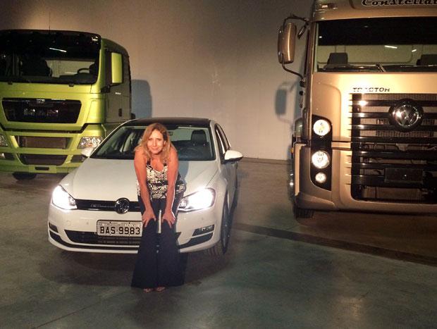 O Golf 1.0 ao lado de caminhões no Best Trucks