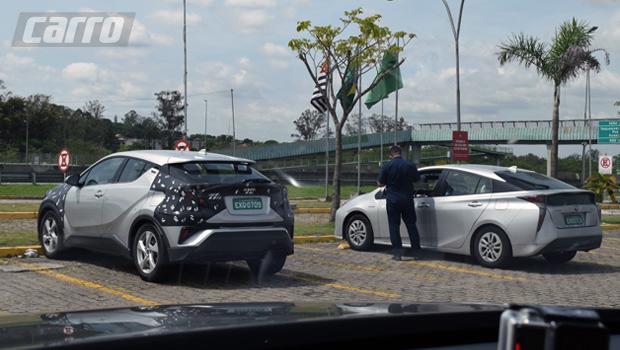 C-HR e Prius foram flagrados em testes pela CARRO em novembro de 2017