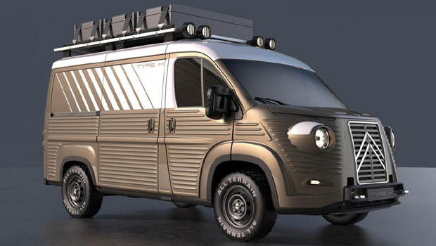 Kit dá um ar extremamente retrô à Citroën Jumper
