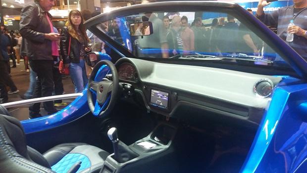 Interior do buggy tem peças oriundas de carros de outras marcas