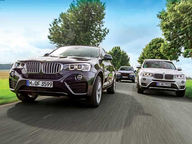 BMW X3 vs. BMW X4 vs. BMW X5