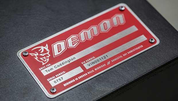 Placa dá pistas sobre informações técnica do Challenger Demon