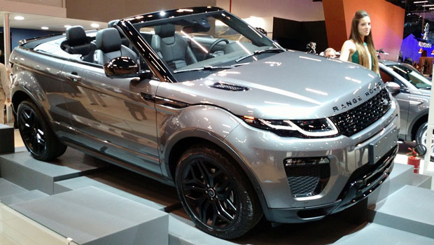 Evoque conversível é destaque no estande da Land Rover