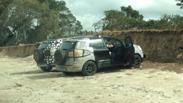 Ainda sob forte camuflagem, as fotos revelam pouco sobre o facelift do SUV