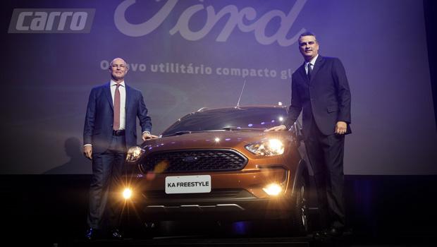 Rogélio Goldfarb (esq.) e Natan Vieira da Ford: pouco foi revelado além do exterior do Ka Freestyle