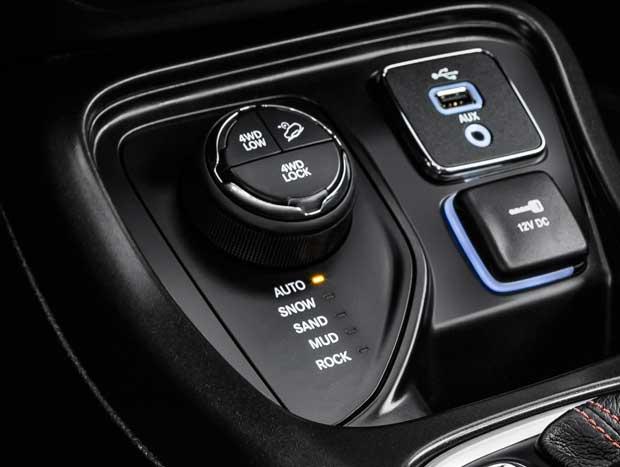 Seletor de modos de condução 4x4 possui cinco modos diferentes