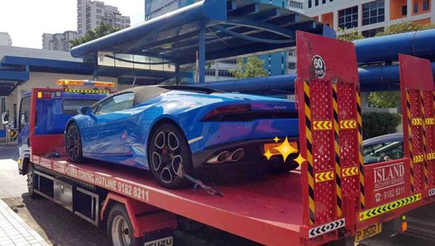 Polícia local guinchou a Lamborghini Huracan após o vídeo