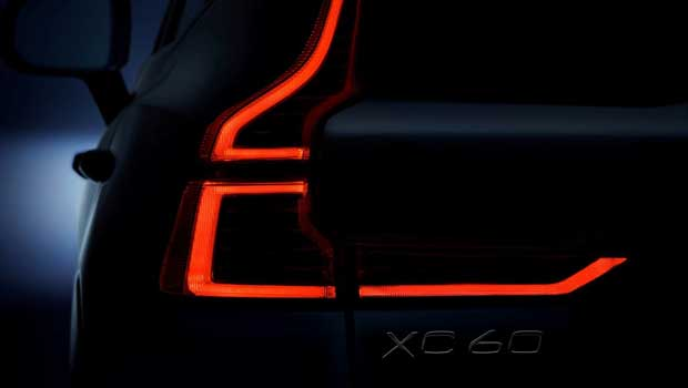 Teaser da lanterna do novo XC60
