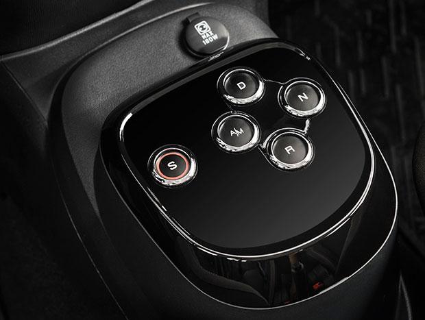 Assim como no Uno, câmbio é operado por botões
