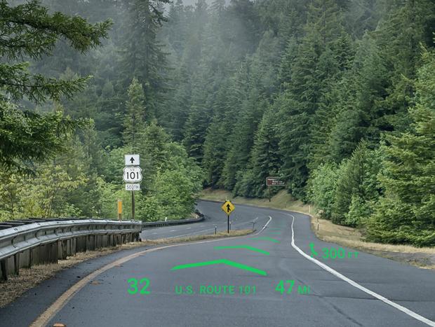 Como nos jogos de video-game, a rota será projetada no para-brisa do veículo