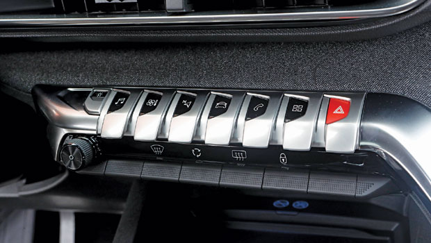 "A tecla menor, à esquerda, ajusta-se ao ""humor"" do motorista"