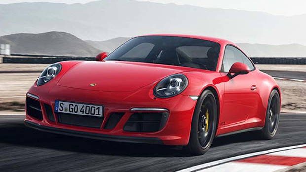 """O 911 GTS oferece rodas pretas de 20"""" com cubo rápido como opcional"""
