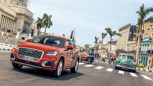 Audi Q2 dando um passeio por Cuba