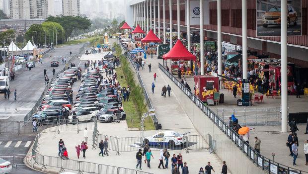 Área externa ampla é uma das vantagens do SP Expo