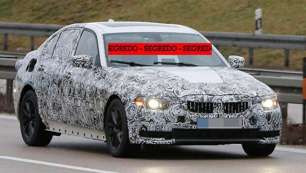 Nova geração do BMW Série 3 é flagrada em testes