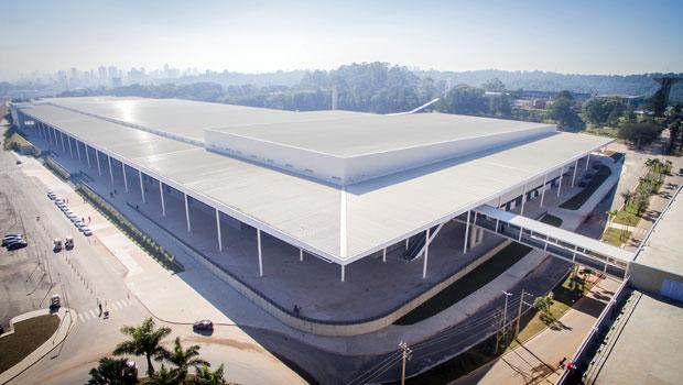Vista geral do pavilhão do São Paulo Expo