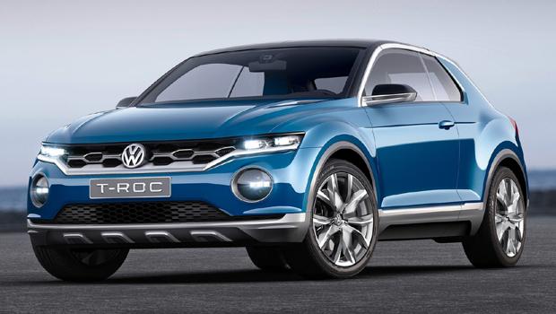 Dianteira do futuro SUV repetirá parte das linhas do conceito T-Roc