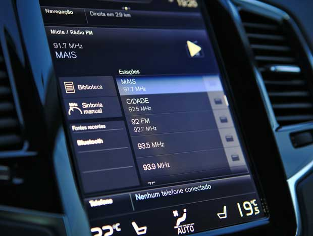 Sistemas multimídia do XC90 é um dos mais interessantes do mercado