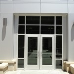 BSU -B&E Right Entryway RainScreen fabricated from SAF Reynobond with Anodic Clear Finish