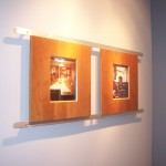 Anodized extrusions for art, photos, sample presentation & display