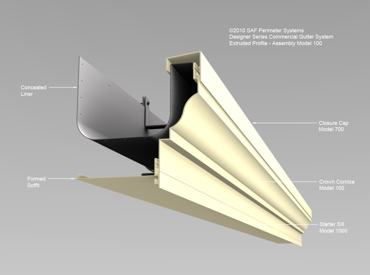 Extruded Gutter 100 Saf Southern Aluminum Finishing Co