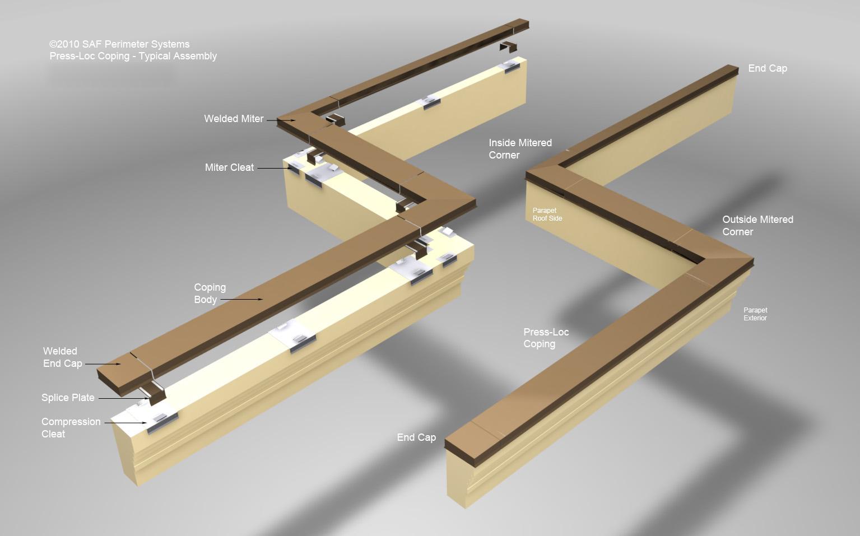 Commercial Building Coping Saf Perimeter Systems Saf
